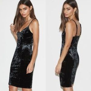 Kendall & Kylie velvet midi dress